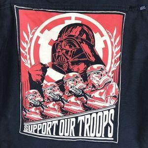 Van's Star Wars Quilted Zip-up Hoodie Jacket Lrg